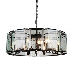 """43"""" 18 Light  Chandelier with Black finish"""