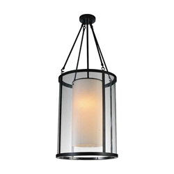"""43"""" 2 Light Candle Chandelier with Oil Rubbed Brown finish"""