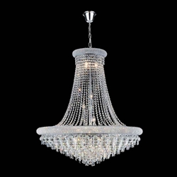 "43"" 20 Light Down Chandelier with Chrome finish"