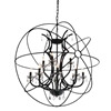 """Picture of 44"""" 12 Light Up Chandelier with Brown finish"""