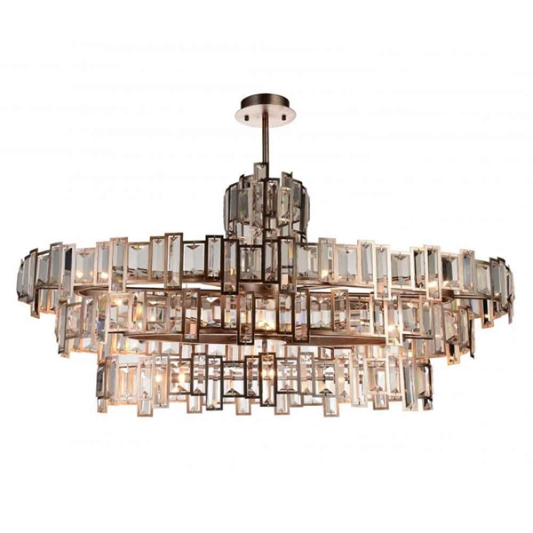 "Picture of 44"" 21 Light Down Chandelier with Champagne finish"