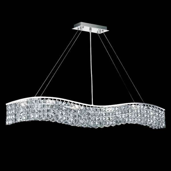 "Picture of 44"" 7 Light Down Chandelier with Chrome finish"