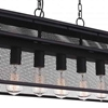"Picture of 44"" 7 Light Island Chandelier with Reddish Black finish"