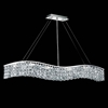 """Picture of 44"""" Gesto Modern Rectangular Wave Chandelier Polished Chrome Clear / Smoky / Champagne Crystal 7 Lights"""