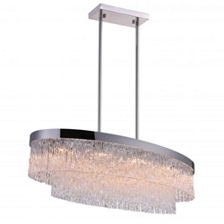 """45"""" 10 Light Island Chandelier with Chrome finish"""