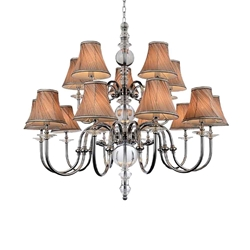 """45"""" 15 Light Up Chandelier with Chrome finish"""