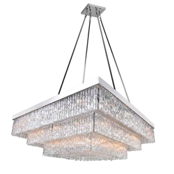 """45"""" 36 Light Down Chandelier with Chrome finish"""