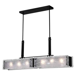 """45"""" 6 Light Chandelier with Black Finish"""