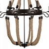 "Picture of 45"" 8 Light Up Chandelier with Rust finish"
