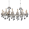 "Picture of 46"" 12 Light Up Chandelier with Chrome finish"