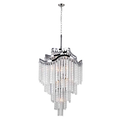 """46"""" 14 Light Down Chandelier with Chrome finish"""