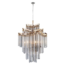 """46"""" 14 Light Down Chandelier with Gold finish"""