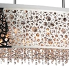 """Picture of 46"""" 16 Light Drum Shade Chandelier with Chrome finish"""