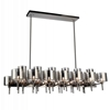 "Picture of 46"" 26 Light Up Chandelier with Pearl Black finish"