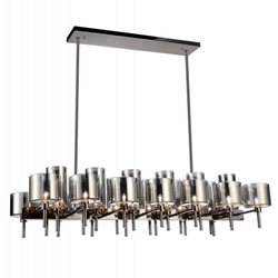 """46"""" 26 Light Up Chandelier with Pearl Black finish"""