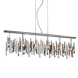 "46"" 6 Light Down Chandelier with Chrome finish"