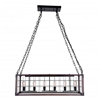 """Picture of 46"""" 6 Light Island Chandelier with Black finish"""