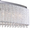 "Picture of 46"" 7 Light Drum Shade Chandelier with Chrome finish"