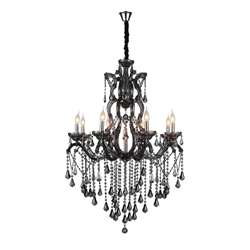 """46"""" 9 Light Up Chandelier with Chrome finish"""