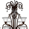 "Picture of 47"" 12 Light Candle Chandelier with Dark Bronze finish"