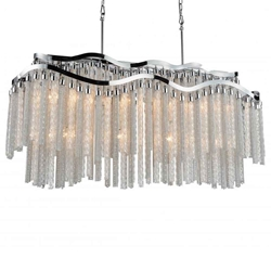 """47"""" 12 Light Down Chandelier with Chrome finish"""