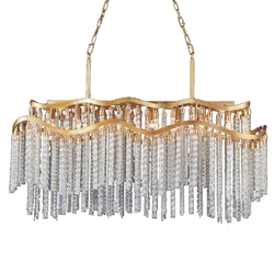 """47"""" 12 Light Down Chandelier with Gold finish"""