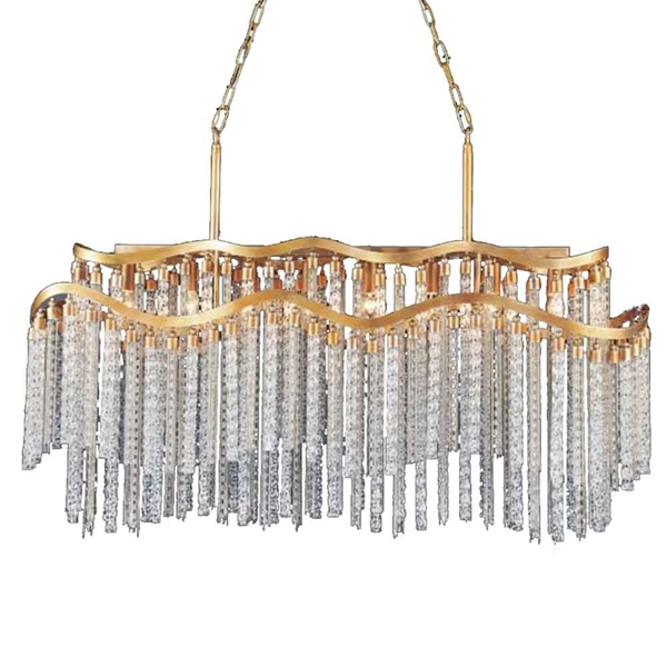 "Picture of 47"" 12 Light Down Chandelier with Gold finish"