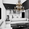 """Picture of 47"""" 16 Light Up Chandelier with French Gold finish"""