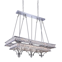 """47"""" 20 Light Island Chandelier with Chrome finish"""