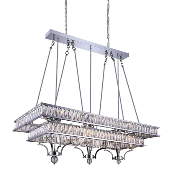 "Picture of 47"" 20 Light Island Chandelier with Chrome finish"