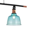 """Picture of 47"""" 3 Light Pool Table Light with Black & Copper finish"""