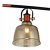 "Picture of 47"" 3 Light Pool Table Light with Black & Copper finish"