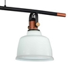 "Picture of 47"" 3 Light Pool Table Light with White finish"