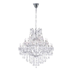 "47"" 33 Light Up Chandelier with Chrome finish"