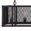 "Picture of 47"" 6 Light Island Chandelier with Reddish Black finish"