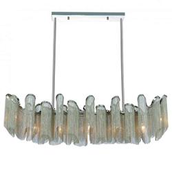 """47"""" 7 Light Down Chandelier with Chrome finish"""