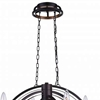 """Picture of 48"""" 10 Light Candle Chandelier with Golden Brown finish"""