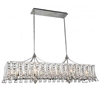 "Picture of 48"" 10 Light Drum Shade Chandelier with Antique Forged Silver finish"