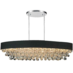 """48"""" 10 Light Drum Shade Chandelier with Chrome finish"""