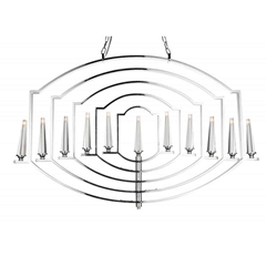"""48"""" 11 Light Up Chandelier with Chrome finish"""