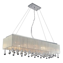 "48"" 17 Light Drum Shade Chandelier with Chrome finish"