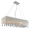 "Picture of 48"" 17 Light Drum Shade Chandelier with Chrome finish"