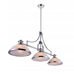 """48"""" 3 Light Island Chandelier with Chrome finish"""