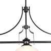 "Picture of 48"" 3 Light Island Chandelier with Gun Metal finish"