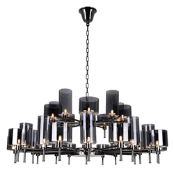 """48"""" 30 Light Up Chandelier with Pearl Black finish"""