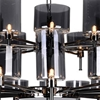 "Picture of 48"" 30 Light Up Chandelier with Pearl Black finish"