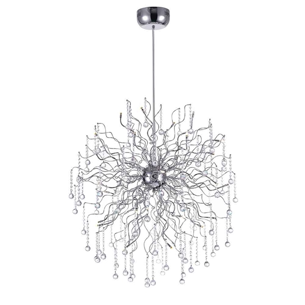 "Picture of 48"" 32 Light  Chandelier with Chrome finish"