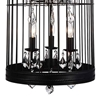 "Picture of 48"" 9 Light Up Chandelier with Black finish"