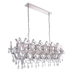"""49"""" 21 Light Candle Chandelier with Chrome finish"""