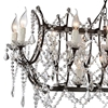 "Picture of 49"" 21 Light Up Chandelier with Dark Brown finish"